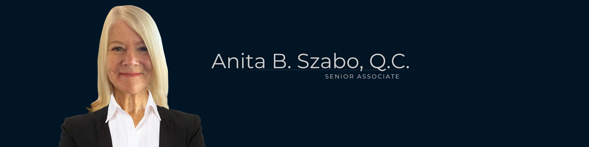 Anita B. Szabo, Q.C., Senior Associate at Dominion GovLaw LLP